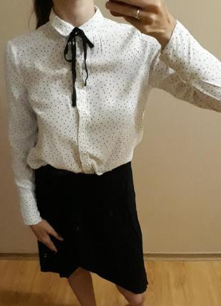 Рубашка bershka блуза блузка женская (на девочку- школьная) xs, m