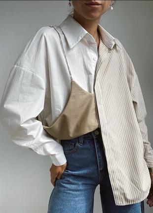 Хлопковая блуза/рубашка двойная с топом