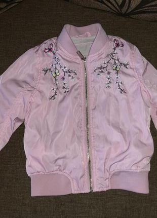 Крутая куртка ветровка стильный бомбер на девочку