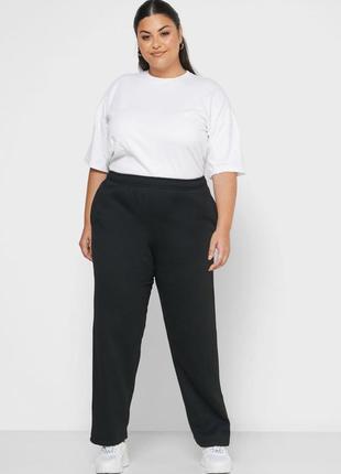 Джоггеры черные спортивные штаны большого размера на флисе