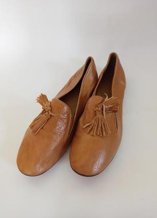 Кожаные балетки.брендове взуття stock