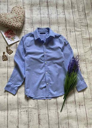 Идеальная голубая рубашка в школу