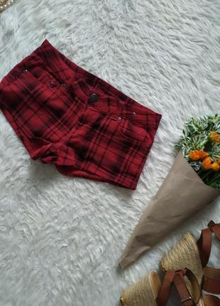 Короткие шорты в клетку размер xs бренда denim co