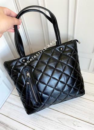 Женская кожаная сумка. вместительная кожана сумка. polina&eiterou.