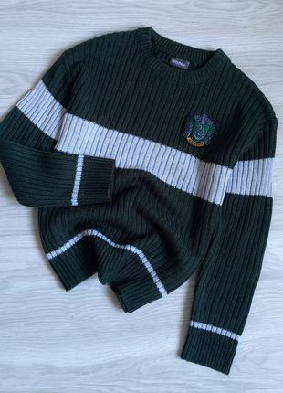 Крутой свитер гарри поттер слизарин