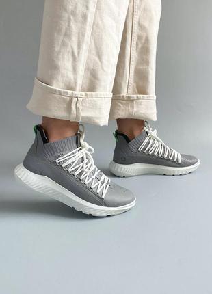 Кожаные женские кроссовки ecco1 фото