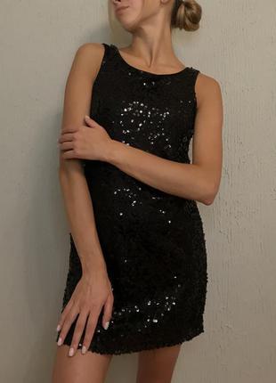 Чорна вечірня сукня3 фото