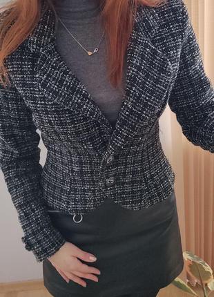 Твидовый пиджак, жакет4 фото