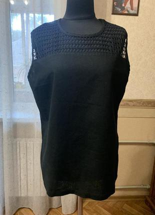 Идеальная блузочка для пышной девушки. лён+хлопок. размер 50-54.