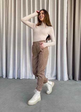 Вельветовые штаны1 фото