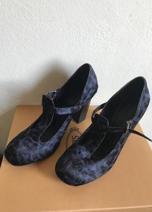 Туфли nicole olivier .мех пони