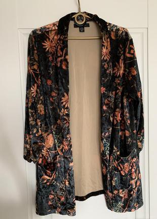 Amisu бархотный пиджак блейзер м-l размер4 фото