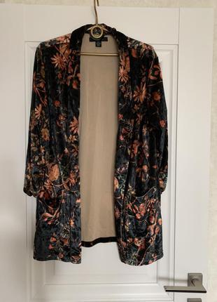 Amisu бархотный пиджак блейзер м-l размер3 фото