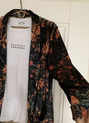 Amisu бархотный пиджак блейзер м-l размер2 фото