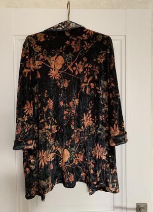 Amisu бархотный пиджак блейзер м-l размер6 фото