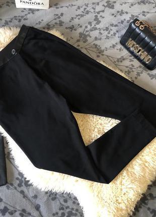 Роскошные крутые брюки с ширинкой на запах, высокая посадка с эко-кожаным поясом, м/л❤️🔥💋3 фото