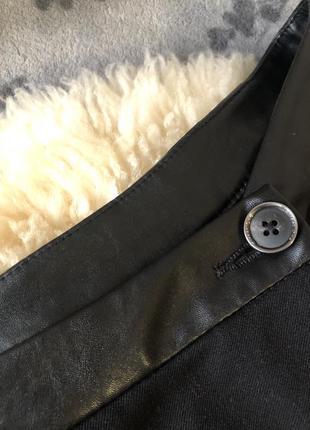 Роскошные крутые брюки с ширинкой на запах, высокая посадка с эко-кожаным поясом, м/л❤️🔥💋5 фото