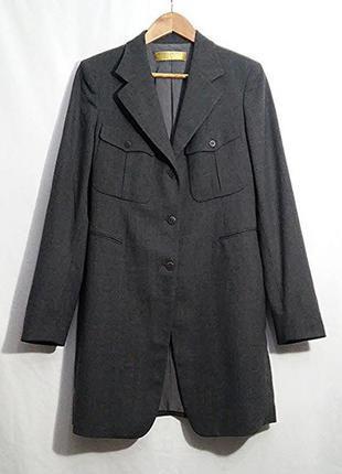 Donna karan, жакет пиджак сюртук шерсть серый, made in italy1 фото