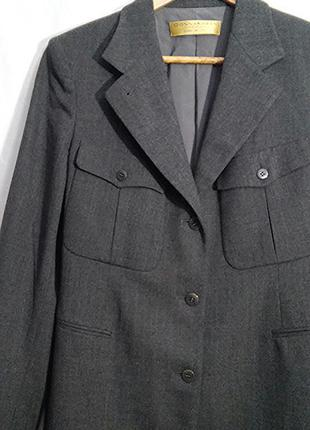 Donna karan, жакет пиджак сюртук шерсть серый, made in italy2 фото