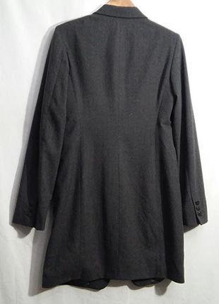 Donna karan, жакет пиджак сюртук шерсть серый, made in italy3 фото