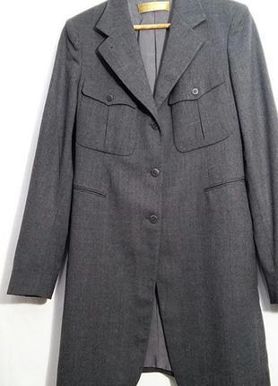Donna karan, жакет пиджак сюртук шерсть серый, made in italy4 фото