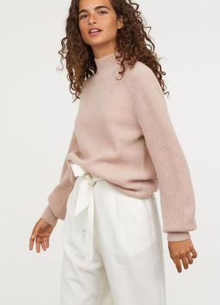 Пудровый  свитер в косы размер s-m1 фото