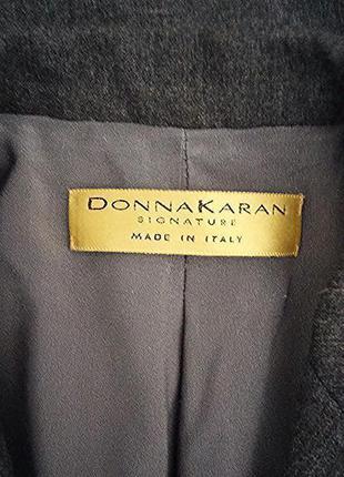 Donna karan, жакет пиджак сюртук шерсть серый, made in italy5 фото