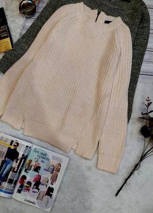 Пудровый  свитер в косы размер s-m2 фото