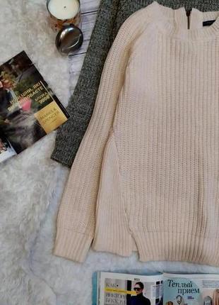 Пудровый  свитер в косы размер s-m3 фото