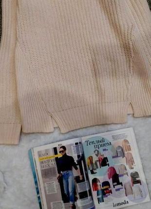 Пудровый  свитер в косы размер s-m4 фото