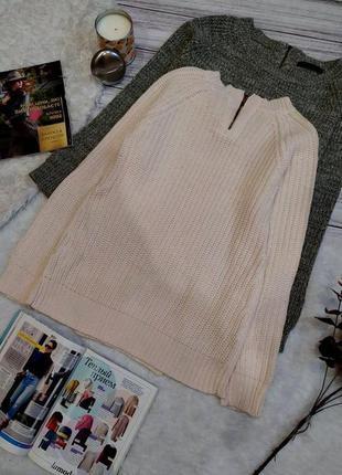 Пудровый  свитер в косы размер s-m5 фото
