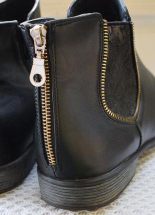 Ботинки полусапоги челси утепленные rieker р.42 27.5 см4 фото
