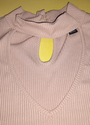 Блуза-майка в рубчик с чокером р. 16(52)4 фото