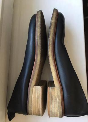Кожаные лодочки туфли на манке  office2 фото