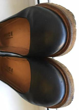 Кожаные лодочки туфли на манке  office4 фото