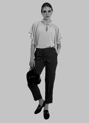 """Премиум бренд - мега-комфортные брюки """"gizia casual"""" черного цвета4 фото"""
