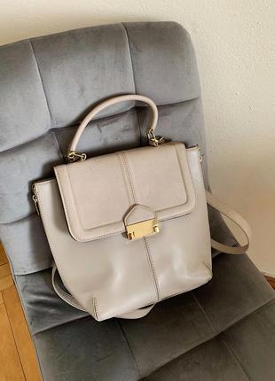 Вместительная бежевая сумка, новая