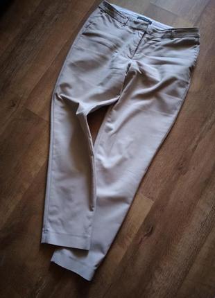 Базовые бежевые зауженные брюки