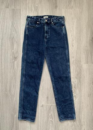 Wrangler retro slim джинсы s - m размер темно синие , стильные .7 фото