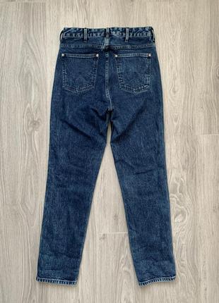 Wrangler retro slim джинсы s - m размер темно синие , стильные .8 фото