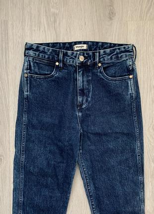 Wrangler retro slim джинсы s - m размер темно синие , стильные .6 фото