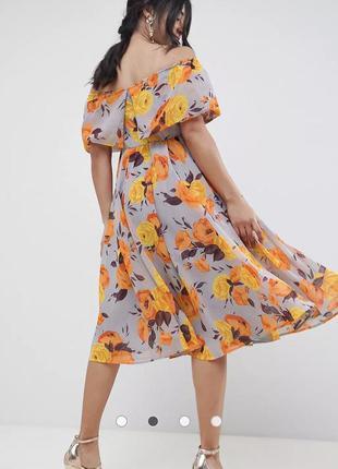 Платье миди-бандо с цветочным принтом asos для беременных4 фото