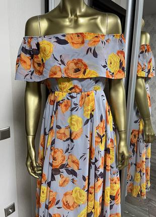Платье миди-бандо с цветочным принтом asos для беременных6 фото