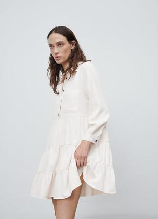 Платье рубашка с воланами от zara1 фото