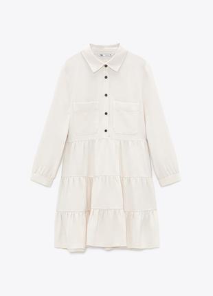 Платье рубашка с воланами от zara2 фото