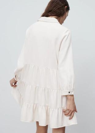 Платье рубашка с воланами от zara4 фото
