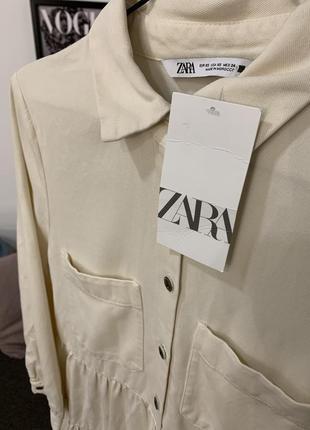 Платье рубашка с воланами от zara5 фото