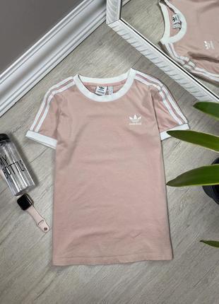 Женская футболка спортивная adidas адидас оригинал розовая