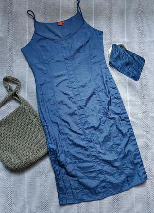 Нейлоновий сарафан платье на пуговицах6 фото