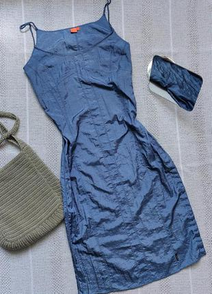 Нейлоновий сарафан платье на пуговицах1 фото